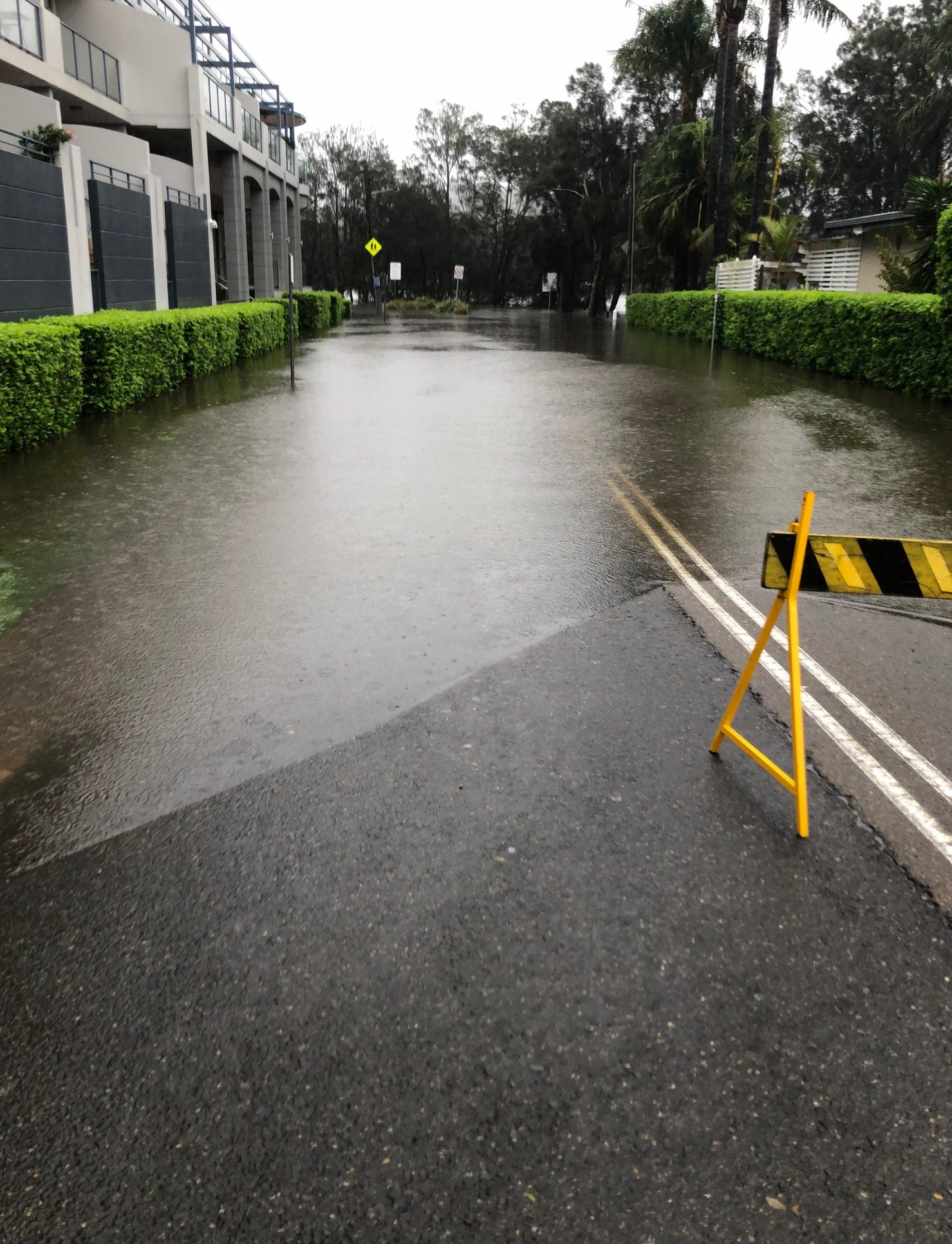overland flow and flooding in complex carpark