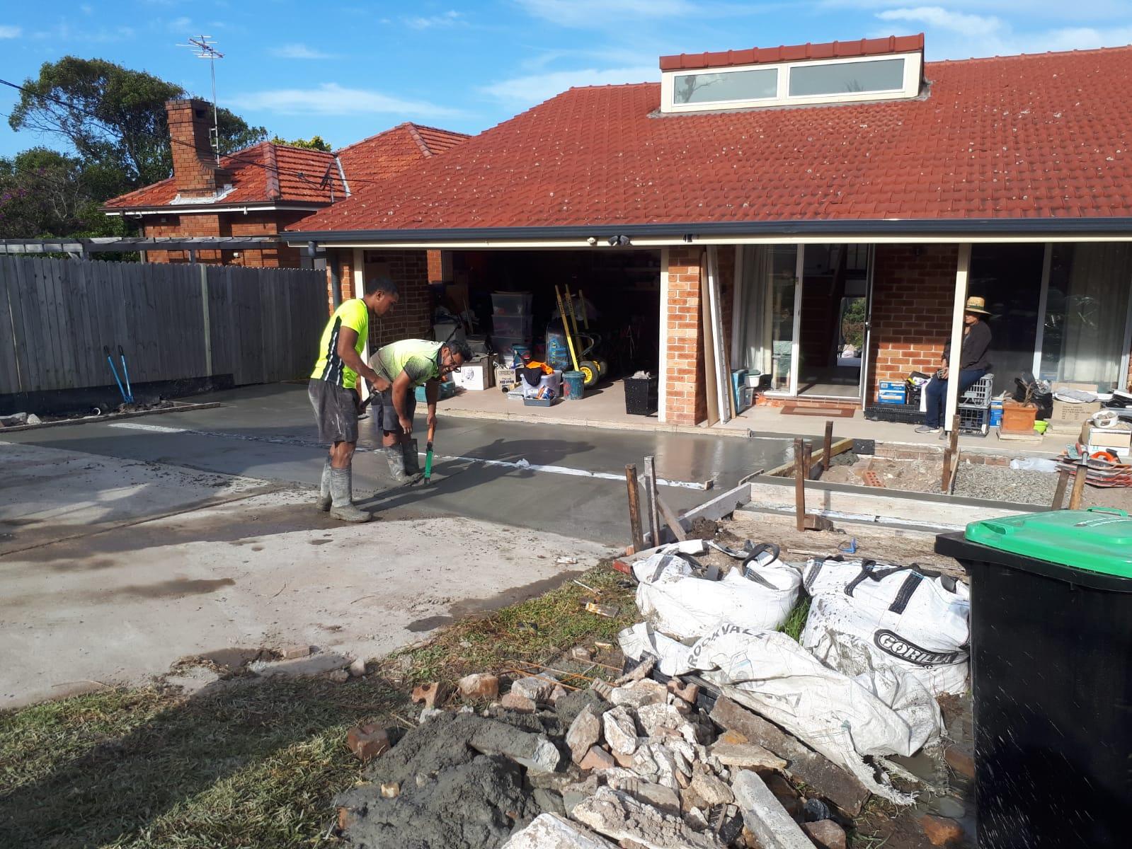 Narraweena new paved driveway