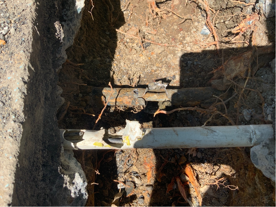 damaged pipes